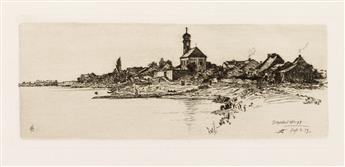 OTTO HENRY BACHER Group of 5 etchings.