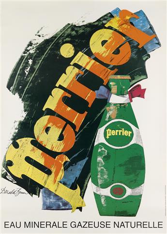 DONALD BRUN (1909-1999). PERRIER. 1978. 49x35 inches, 126x90 cm. Atar, Geneva.