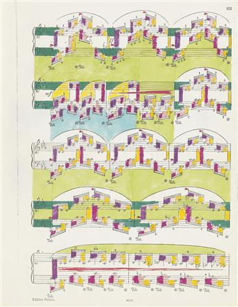 PAUL SHARITS Group of 8 Music Score Drawings.