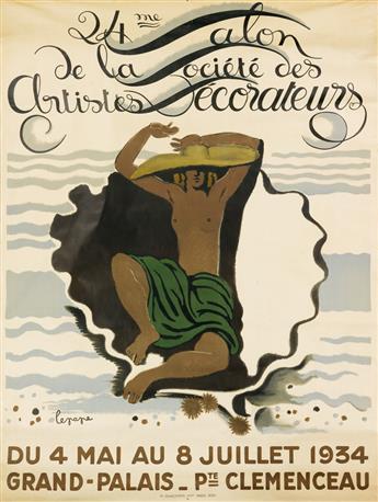 GEORGES LEPAPE (1887-1971). 24ME SALON DE LA SOCIÉTÉ DES ARTISTES DÉCORATEURS. Group of 5 color proofs and final poster. 1934. Sizes va