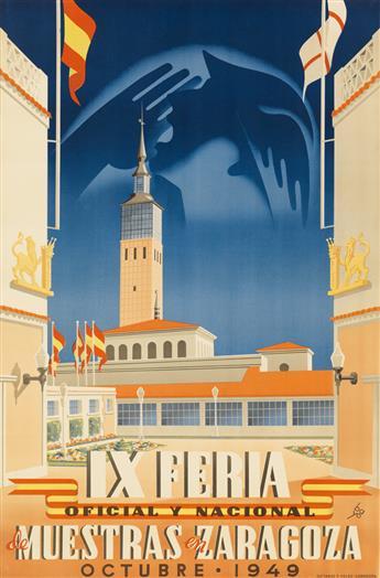 MANUEL BAYO MARÍN (1908-1953). IX FERIA DE MUESTRAS EN ZARAGOZA. 1949. 37x24 inches, 94x61 cm. Octavio y Felez, Zaragoza.