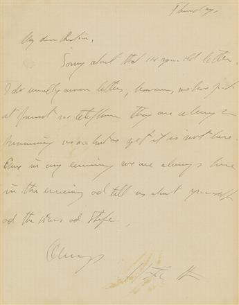GERTRUDE STEIN (1874-1946)  Autograph Letter Signed, to Arthur Rubin (My dear Rubin),