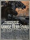 PLINIO CODOGNATO (1878-1940) GRANDE FIERA CAVALLI. 1910. 77x57 inches. Prina & Bresciani, Milan.