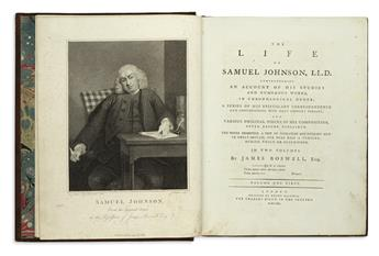 BOSWELL, JAMES. The Life of Samuel Johnson, LL.D.  2 vols.  1791