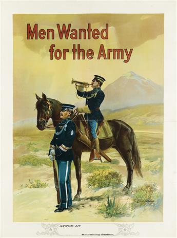 MICHAEL P. WHELAN (DATES UNKNOWN). MEN WANTED FOR THE ARMY. Circa 1910. 41x29 inches, 104x75 cm.