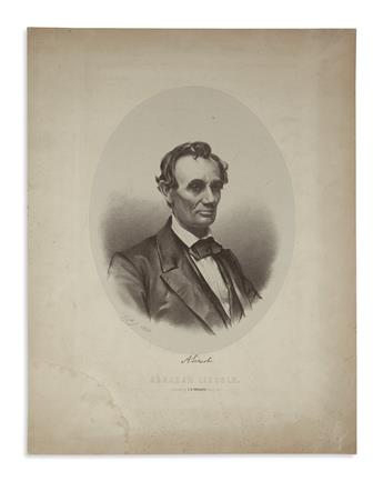 (PRINTS--1860 CAMPAIGN.) Johnston, T.M., lithographer; after German. Early campaign print with an interesting history.