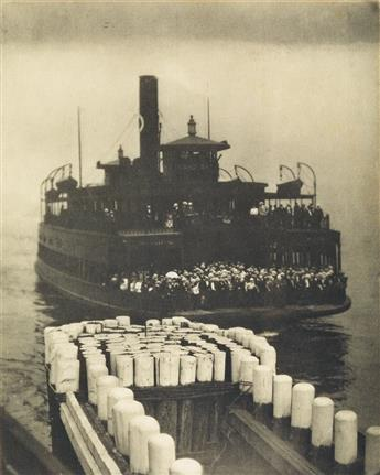 ALFRED STIEGLITZ (1864-1946) Ferry Boat * The Mauritania * Old and New New York * Swiming Lesson.