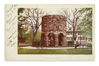 (RHODE ISLAND.) Collection of postcards, photographs, and ephemera relating to Newport's Old Stone Mill.