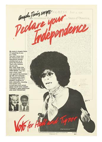 "(CIVIL RIGHTS--VOTER REGISTRATION.) ANGELA DAVIS. Angela Davis Urges ""Declare Your Independence."""