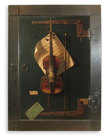 HARNETT, WILLIAM. The Old Violin.
