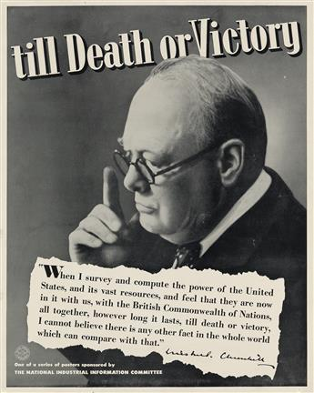 VARIOUS ARTISTS. [WINSTON CHURCHILL.] Group of 7 posters. Sizes vary.