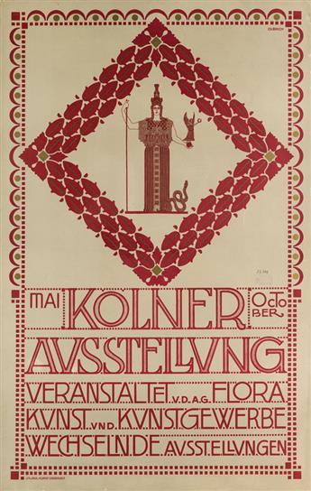 JOSEF MARIA OLBRICH (1867-1908). KOLNER AUSSTELLUNG. 1907. 41x26 inches, 106x66 cm. M. Dumont Schauberg, Koln.