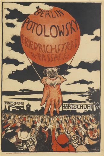 EMIL ORLIK (1870-1932). BERLIN POTOLOWSKY / HANDSCHUHE. 1897. 28x18 inches, 71x47 cm. Hollerbaum & Schmidt, Berlin.