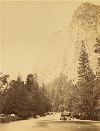 CARLETON E. WATKINS (1829-1916) Outline of Cathedral Rock at the River of the Foot, Yosemite.