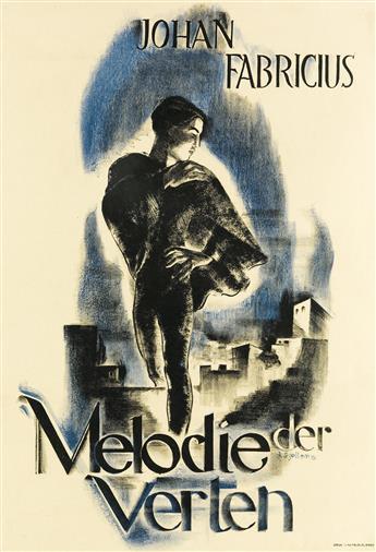 JOHAN (JOOP) SJOLLEMA (1900-1990). MELODIE DER VERTEN / JOHAN FABRICIUS. 1932. 25x17 inches, 65x43 cm. Senefelder, Amsterdam.