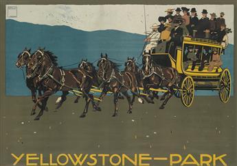 LUDWIG HOHLWEIN (1874-1949). YELLOWSTONE - PARK. 1910. 33x48 inches, 85x122 cm. G. Schuh & Cie., Munich.