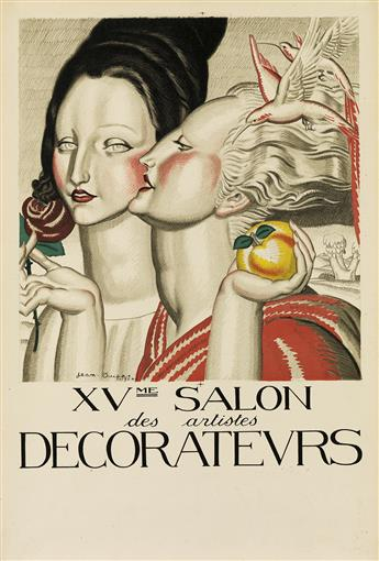 JEAN DUPAS (1882-1964). XVME SALON DES ARTISTES DECORATEURS. 1924. 23x15 inches, 59x40 cm. [H. Chachoin, Paris.]
