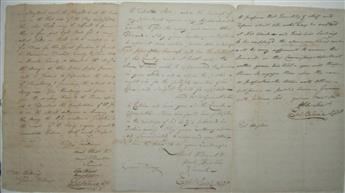 (AMERICAN REVOLUTION.) BLAINE, EPHRAIM. Three items Signed, Eph: Blaine: Two Autograph Documents * Document.