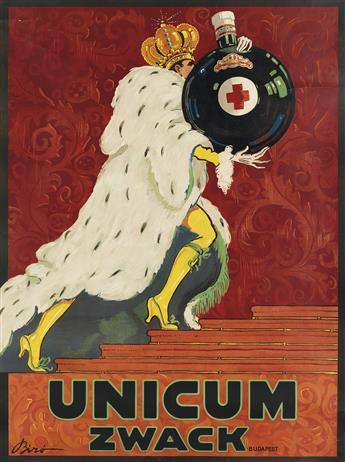 MIHALY BIRÓ (1886-1948). UNICUM ZWACK. 1918. 49x36 inches, 125x92 cm.
