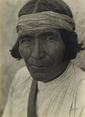 EDWARD S. CURTIS (1868-1952) A group of 12 signed silver prints, including portraits, studies of the Hupa fishermen, and numerous publi