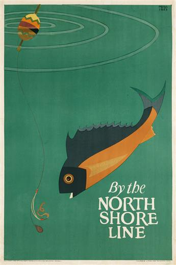 ERVINE METZL (1899-1963). BY THE NORTH SHORE LINE. 1923. 41x27 inches, 104x69 cm. Illinois Litho. Co., Chicago.