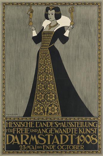 FRIEDERICH KLEUKENS (1879-1956). DARMSTADT. 1908. 34x23 inches, 88x58 cm. H. Hohmann, Darmstadt.