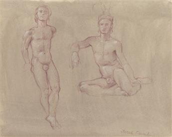 JARED FRENCH Two nude studies.