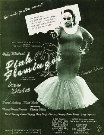 JOHN WATERS (1946- )  Group of 11 movie premiere fliers.
