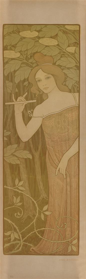 PAUL BERTHON (1872-1909). [LE SUREAU II.] Circa 1900. 38x12 inches, 97x30 cm. [Chaix, Paris.]