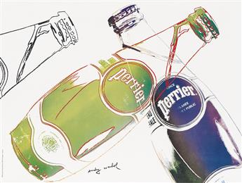 ANDY WARHOL (1928-1987). PERRIER. 1983. 18x24 inches, 46x61 cm.