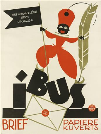 HANS NEUMANN (1888-1960). IBUS / BRIEF PAPIERE KUVERTS. Circa 1922. 49x36 inches, 124x93 cm.