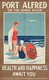 ANONYMOUS PORT ALFRED. Circa 1930. 40x24 inches. E. P. Herold Litho., Port Elizabeth.