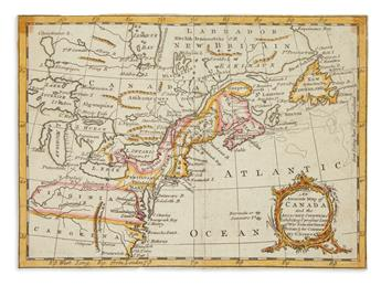 (AMERICA.) 3 hand-colored engraved colonial maps from popular periodicals.