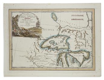 (GREAT LAKES.) Cassini, Giovanni Maria. Gli Stati Uniti Dell America... Primo Foglio che Comprende Inoltre Parte del Canada.