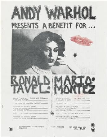 MARIO MONTEZ (1935-2013)  Group of fliers for screenings of films starring Montez.