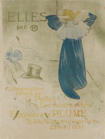 HENRI DE TOULOUSE-LAUTREC (1864-1901). ELLES. 1896. 24x18 inches, 62x47 cm.