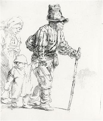 REMBRANDT VAN RIJN A Peasant Family on the Tramp.