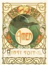 ALPHONSE MUCHA (1860-1939). LE PATER. Group of 5 plates. 1899. Each approximately 15x11 inches, 40x29 cm.