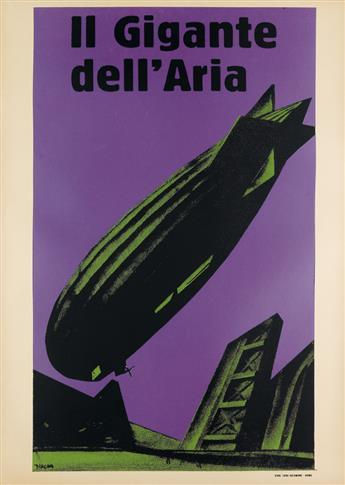 MARIO SIRONI (1885-1961). IL GIGANTE DELLARIA. 1926. 39x27 inches, 99x70 cm. Luigi Salomone, Rome.