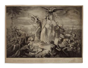 (PRINTS--PRESIDENTIAL.) The Outbreak of the Rebellion in the United States 1861.