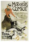 THÉOPHILE-ALEXANDRE STEINLEN (1859-1923) MOTOCYCLES COMIOT. 1899. 77x52 inches. Charle Verneau, Paris.