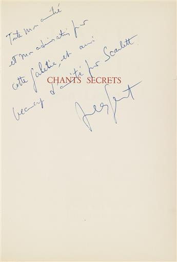 JEAN GENET (1910-1986)  Chants Secrets.