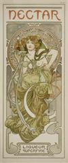 ALPHONSE MUCHA (1860-1939) NECTAR. 1902. 15x6 inches. Paris.