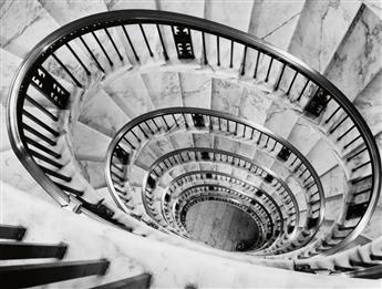(BOURKE-WHITE, MARGARET) (1904-1971) Elliptical Stairway, Supreme Court Building, Washington D.C.
