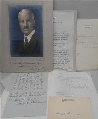 (DIPLOMATS--AMERICAN.) Group of 6 items Signed, or Signed and Inscribed, to John Hays Hammond.