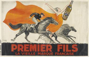 ROBYS (ROBERT WOLFF, 1905-1995). PREMIER FILS / LA VIEILLE MARQUE FRANÇAISE. 1936. 51x78 inches, 129x198 cm. Affiches Stentor, Paris.