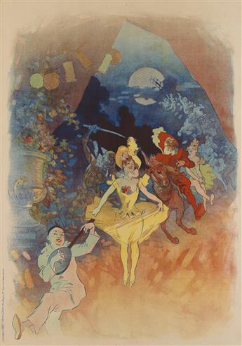 JULES CHÉRET (1836-1932). [MUSÉE GRÉVIN / THÉÂTRE LES FANTOCHES DE JOHN HEWELT.] 1900. 48x34 inches, 122x87 cm. Chaix, Paris.