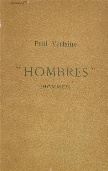 PAUL VERLAINE (1844-1896)  Hombres (Hommes).