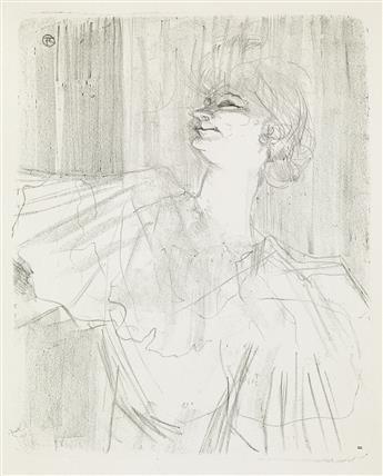 HENRI TOULOUSE-LAUTREC Yvette Guilbert, A Ménilmontant, de Bruant.