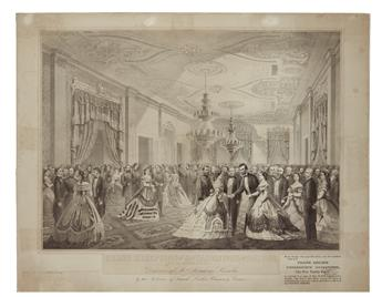 (PRINTS--SECOND TERM.) Grand Reception of the Notabilities of the Nation at the White House 1865.